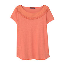 Buy Violeta by Mango Tassels Linen T-Shirt Online at johnlewis.com