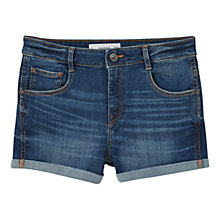 Buy Mango Dark Denim Shorts, Open Blue Online at johnlewis.com