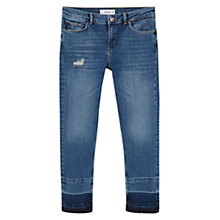 Buy Mango Skinny Cropped Amy Jeans, Open Blue Online at johnlewis.com