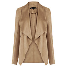 Buy Warehouse Suedette Waterfall Jacket Online at johnlewis.com
