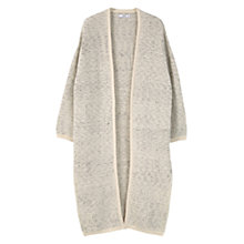 Buy Mango Flecked Cotton-Blend Cardigan, Light Beige Online at johnlewis.com