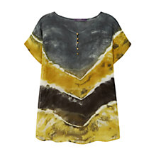 Buy Violeta by Mango Tie Dye Blouse, Yellow Online at johnlewis.com