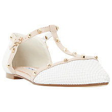 Buy Dune Heti Studded Pointed Flat Shoes Online at johnlewis.com