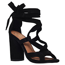 Buy KG by Kurt Geiger Mia Multi Strap Tie Sandals, Black Online at johnlewis.com