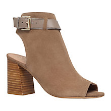 Buy KG by Kurt Geiger Ripple Peep Toe Ankle Boots, Taupe Online at johnlewis.com