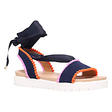 Buy Miss KG Dakota Tie Up Sandals, Navy Online at johnlewis.com