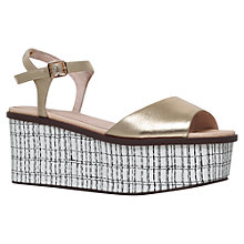 Buy KG by Kurt Geiger Mambo Flatform Sandals, Gold Online at johnlewis.com