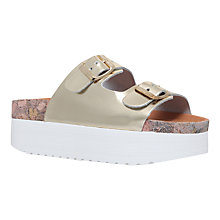 Buy KG by Kurt Geiger Nola Flatform Sandals, Gold Online at johnlewis.com