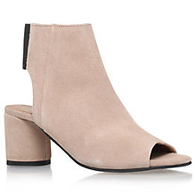 Buy KG by Kurt Geiger Raw Peep Toe Ankle Boots Online at johnlewis.com