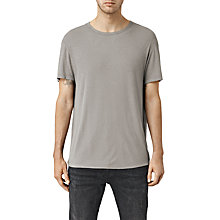 Buy AllSaints Linver Crew Neck Linen Blend T-Shirt, Steeple Grey Online at johnlewis.com
