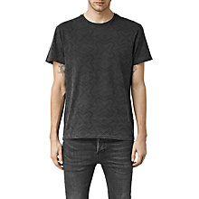 Buy AllSaints Cholo Geometric Graphic T-Shirt, Jet Black Online at johnlewis.com