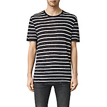 Buy AllSaints Tamra Stripe Crew Neck T-Shirt Online at johnlewis.com