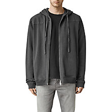 Buy AllSaints Drewest Full Zip Hoodie, Washed Black Online at johnlewis.com