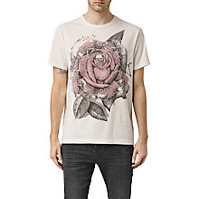 Buy AllSaints Hollywood Rose Crew Neck T-Shirt Online at johnlewis.com