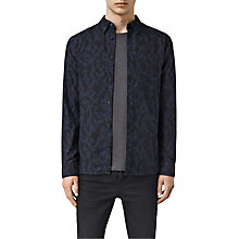 Buy AllSaints Montaud Abstract Animal Print Shirt, Ink Navy/Black Online at johnlewis.com