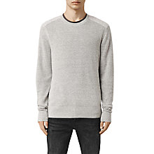 Buy AllSaints Bram Cotton Crew Neck Jumper, Grey Marl Online at johnlewis.com