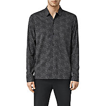 Buy AllSaints Morpho Long Sleeve Shirt, Jet Black Online at johnlewis.com