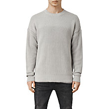 Buy AllSaints Heath Crew Jumper, Light Grey Online at johnlewis.com