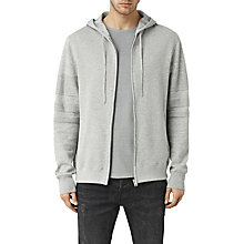Buy AllSaints Athlon Hoodie, Grey Online at johnlewis.com