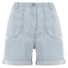 Buy Hygge by Mint Velvet Washed Easy Shorts, Blue Online at johnlewis.com