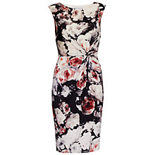 Buy Gina Bacconi Floral Print Textured Jersey Dress, Coral Online at johnlewis.com