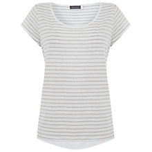 Buy Mint Velvet Stripe T-Shirt, Ivory/Dove Online at johnlewis.com
