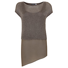 Buy Mint Velvet Layered Knit, Brown Online at johnlewis.com