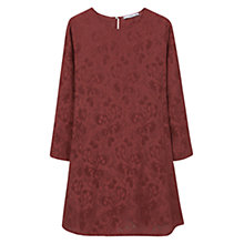Buy Mango Back Vent Dress, Dark Brown Online at johnlewis.com