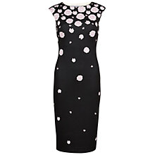 Buy Gina Bacconi Scattered Carnation Print Dress, Black Online at johnlewis.com