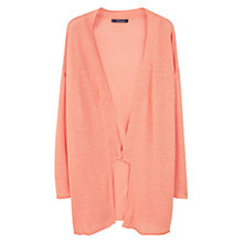 Buy Violeta by Mango Long Linen-Blend Cardigan, Pastel Orange Online at johnlewis.com
