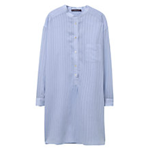 Buy Violeta by Mango Striped Blouse, Light Pastel Blue Online at johnlewis.com