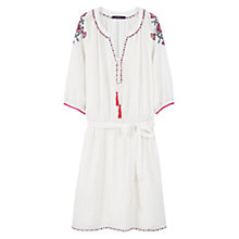 Buy Violeta by Mango Embroidered Dress, White Online at johnlewis.com