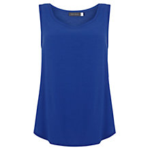Buy Mint Velvet Raw Edge Vest, Azure Online at johnlewis.com