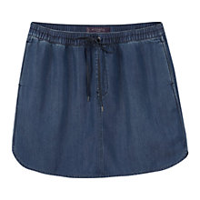 Buy Violeta by Mango Soft Fabric Mini Skirt, Open Blue Online at johnlewis.com