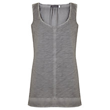 Buy Mint Velvet Woven Hem Overdye Vest, Grey Online at johnlewis.com