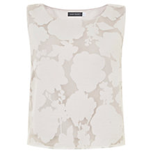 Buy Mint Velvet Floral Burnout Shell Top, Ivory Online at johnlewis.com