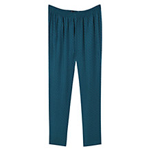 Buy Violeta by Mango Flowy Printed Trousers, Green Online at johnlewis.com