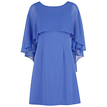Buy Gina Bacconi Crepe Dress With Chiffon Cape, Iris Online at johnlewis.com