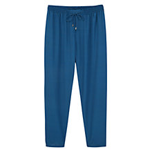 Buy Violeta by Mango Printed Baggy Trousers, Medium Blue Online at johnlewis.com