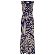 Buy Gina Bacconi Abstract Animal Print Dress, Navy Online at johnlewis.com