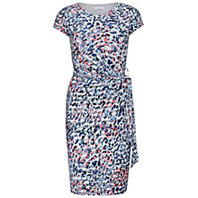 Buy Gina Bacconi Printed Jersey Dress, Turquoise/Multi Online at johnlewis.com