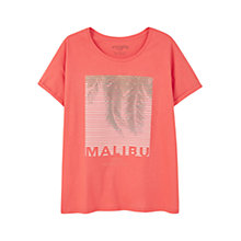 Buy Violeta by Mango Printed Image T-Shirt, Red Online at johnlewis.com