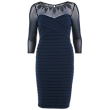 Buy Gina Bacconi Bandage Dress With Beaded Sheer Yoke Online at johnlewis.com