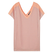 Buy Violeta by Mango Combined Fabric T-Shirt Online at johnlewis.com