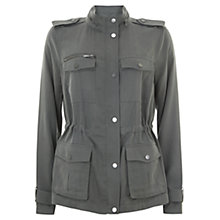 Buy Mint Velvet Soft Military Jacket, Khaki Online at johnlewis.com