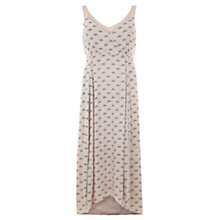 Buy Mint Velvet Luisa Print Tie Back Dress, Peach Online at johnlewis.com