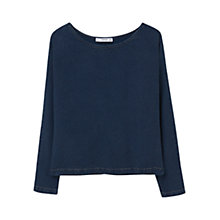 Buy Mango Soft Fabric Blouse, Open Blue Online at johnlewis.com