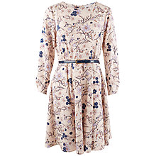 Buy Closet Cuff Sleeve Floral Belted Dress, Multi Online at johnlewis.com