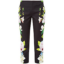 Buy Ted Baker Galla Forget Me Not Cropped Trousers, Black Online at johnlewis.com