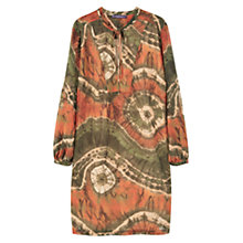 Buy Violeta by Mango Flowy Printed Dress, Beige/Khaki Online at johnlewis.com